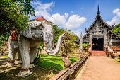 Wat Lok Molee, Old Wooden Temple In Chiang Mai, Thailand.
