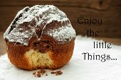 Homemade Cake With Life Quote Enjoy The Little Things