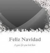 Feliz navidad against christmas themed snow flake frame