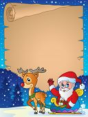 Christmas topic parchment 6 - eps10 vector illustration.