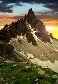 Paternkofel at sunset, Dolomite Alps,Italy
