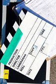 Film Slate on set