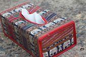 Tissue Box Elephant Is The Symbol Of Thailand.