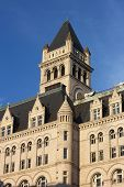 picture of old post office  - Architectural details of Old Post Office building in Washington DC - JPG