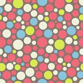 Seamless festive background from circles.  Vector Illustration.