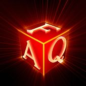 FAQ cube with glow