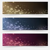 pic of shimmer  - Magic Christmas bokeh shimmering light web header collection - JPG