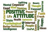 Positive Attitude word cloud on white background