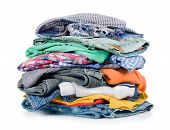 Pile Of Clothing Isolated On White