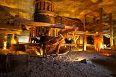 pic of salt mine  - Wieliczka salt mine near Krakow in Poland - JPG