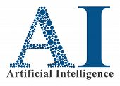 stock photo of informatics  - Artificial Intelligence concept image with dotted A - JPG
