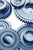 stock photo of bonding  - Metal cog wheels bonding together - JPG