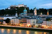 picture of mozart  - Aerial View of Salzburg - JPG
