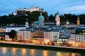 foto of mozart  - Aerial View of Salzburg - JPG
