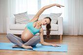 stock photo of pregnancy exercises  - pregnancy - JPG