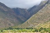 foto of south-western  - View to the west from the N1 road to the mountains of the Hex River Valley in the Western Cape Province of South Africa - JPG