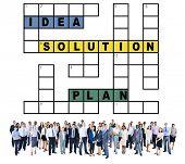 image of scrabble  - Solution Ideas Plan Solving Result Crossword Concept - JPG