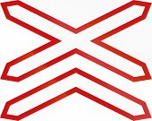 picture of railroad-sign  - Argentinian warning sign for multi - JPG