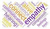 picture of empathy  - Empathy word cloud on a white background - JPG