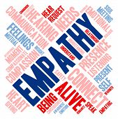 stock photo of empathy  - Empathy word cloud on a white background - JPG