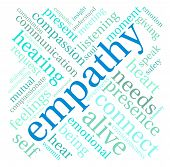 stock photo of compassion  - Empathy word cloud on a white background - JPG
