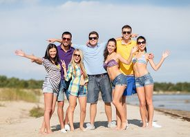 picture of waving hands  - summer holidays - JPG
