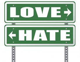 pic of hate  - love hate emotions and connections intense feelings of affection like or dislike  - JPG