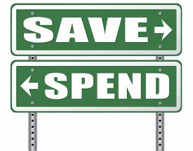image of time-saving  - save for later plan ahead saving money in piggy bank savings now and spend later after crisis  - JPG