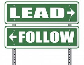 picture of follow-up  - follow or lead following or catch up the natural leader - JPG