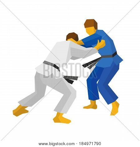 Two judo fighters