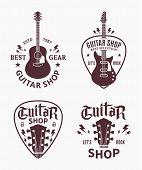 Vector Guitar Shop Logo poster