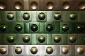 parede de fundo de metal nas cores verdes e marrons