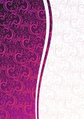 Vector pink floral background with copy-space