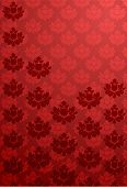 Vector illustration of a vertical red glamour pattern