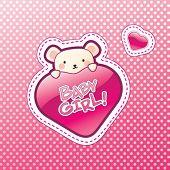 Baby Girl Vector Illustration