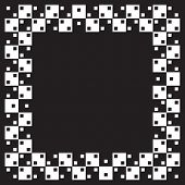 Visual illusion.Vector illustration. Squares are same size and parralel. When image smaller distorti