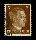 GERMANY - CIRCA 1941:  Used Postage Stamp showing Portrait of Adolf Hitler circa 1941.
