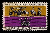 USA - CIRCA 1930: A stamp printed in USA shows image of the dedicated to the Magna Carta circa 1930.