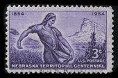 USA - CIRCA 1954: A stamp printed in USA shows image of the dedicated to the Nebraska Territorial Ce