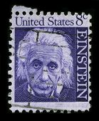 USA - CIRCA 1965: A stamp printed in USA shows image portrait Albert Einstein (March 14, 1879 - April 18, 1955) was a theoretical physicist, philosopher and author  circa 1965.