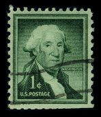 USA - CIRCA 1932: A stamp printed in USA shows image portrait George Washington (1732-1799), was the first president of the United States (1789?1797), circa 1932.