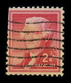 USA - CIRCA 1930: A stamp printed in USA shows image portrait Thomas Jefferson (April 13, 1743 - July 4, 1826) was the third President of the United States (1801?1809), circa 1930.
