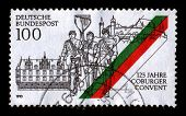 GERMANY - CIRCA 1993: A stamp dedicated to the Coburger Convent der akademischen Landsmannschaften und Turnerschaften (abbreviation: CC) is an association of 100 German, circa 1993.