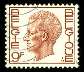 BELGIQUE - CIRCA 1993: A stamp printed in BELGIQUE shows image of the Baudouin I, reigned as King of