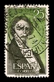 SPAIN - CIRCA 1974:A stamp printed in SPAIN shows image portrait Jose Ignacio Javier Oriol Encarnaci
