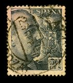 SPAIN-CIRCA 1950:A stamp printed in Spain shows image portrait Francisco Paulino Hermenegildo Teodul