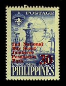 PHILIPPINES - CIRCA 1959:A stamp printed in PHILIPPINES shows image of The 10th World Scout Jamboree