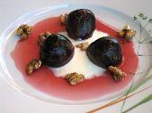 Orange Syrup On Roasted Figs Dessert