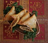 stock photo of middle eastern culture  - Plate of delicious Middle Eastern fried food - JPG