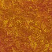 Golden Floral Grunge